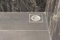 Floor drain in bathroom Royalty Free Stock Photo
