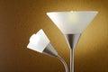 Floor lamp decorative shade in house interior Royalty Free Stock Photos
