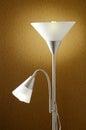 Floor lamp decorative shade in house interior Stock Photo