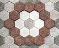Floor mosaic decorativr stone bricks in pattern Stock Images