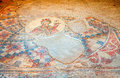 Floor mosaic fragment of in the city of beit she an in israel Stock Photography