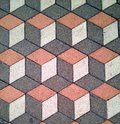Floor patern public square tiles Royalty Free Stock Images