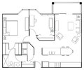 Floor plan apartment for a two bedroom Royalty Free Stock Photo