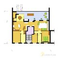 Floor plan architectural vector apartment Stock Image