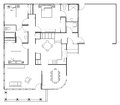 Floor plan house for a three bedroom Royalty Free Stock Photos