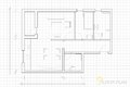 Floor plan image of vector illustration of architectural Royalty Free Stock Photography