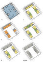 Floor plans of the living house Stock Image