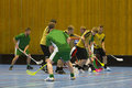 Floorball lek Royaltyfri Foto