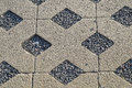 Flooring assembled on a substrate of sand type permeable to water Royalty Free Stock Photo