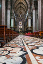 The floors of the duomo an interior view di milano in city milan cathedral Stock Photography