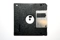 Floppy disc black lying on the white background Stock Image