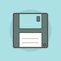 Floppy disk  on blue background Royalty Free Stock Photo