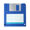 Floppy disk blue inch isolated on a white background Royalty Free Stock Photography
