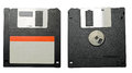 Floppy disk front and back closeup of from on white background Stock Image