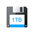 Floppy disk modern more capacity Stock Photo