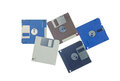 Floppy disk old used over white with clipping path Stock Images