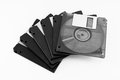 Floppy disks isolated on white background, translucent floppy disk Royalty Free Stock Photo