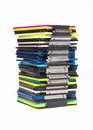 Floppy disks many colorful on a pile Royalty Free Stock Photos