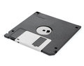 Floppy disks on a white background close up Stock Photos