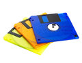 Floppy disks on a white background close up Royalty Free Stock Photo