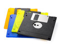 Floppy disks on a white background close up Stock Photography