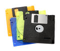 Floppy disks on a white background close up Stock Images