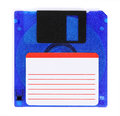 Floppy disks on a white background close up Royalty Free Stock Photography