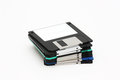 Floppy pile a of obsolete technology diskettes Royalty Free Stock Photos