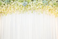 Flora backdrop with white cloth