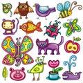 Flora e jogo da fauna Imagens de Stock