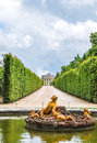 Flora  fountain in Versailles Palace garden, France Royalty Free Stock Photo