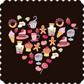 Flora love shape card Royalty Free Stock Photography