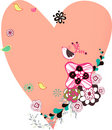 Flora love shape card Royalty Free Stock Photo