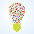 Flora pattern light bulb Stock Photos