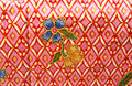 Flora sarong texture thai floral pattern background Royalty Free Stock Photos