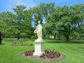 Flora statue the of the roman goddess at the halifax public gardens in halifax nova scotia canada Royalty Free Stock Photography