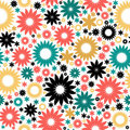 Floral abstract background, seamless pattern Stock Image