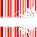 Floral abstract banner Royalty Free Stock Photo