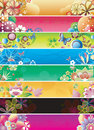 Floral Abstract Banner Set 2 Royalty Free Stock Photo