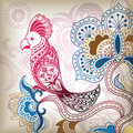 Floral Abstract Bird Parrot Royalty Free Stock Photo