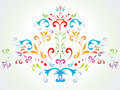 Floral abstract decoration Royalty Free Stock Image