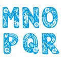 Floral alphabet flower decoration letter design Royalty Free Stock Photo