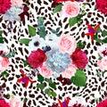 Floral animal seamless vector design print