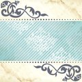 Floral arabesque background in blue and gold Stock Images