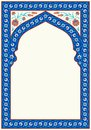 Floral arch for your design. Traditional Turkish � Ottoman ornament. Iznik