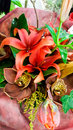 Floral arrangement with asiatic lillies