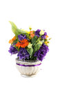 Floral arrangement isolated on white background Stock Images