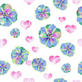 Floral Art Grunge Batik Backgr...