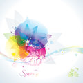 Floral background abstract colorful spring Royalty Free Stock Photos