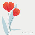 Floral background backgroun with red tulips Stock Photography